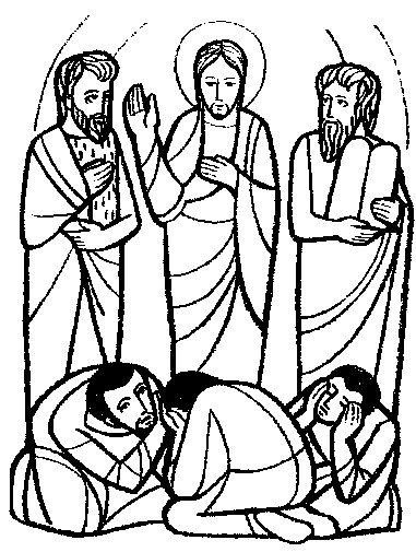 Transfiguration Of Jesus Clipart.