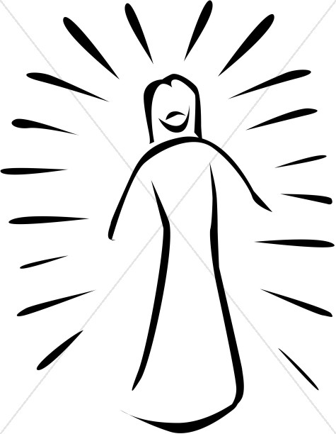 Transfiguration of Jesus Cartoon.