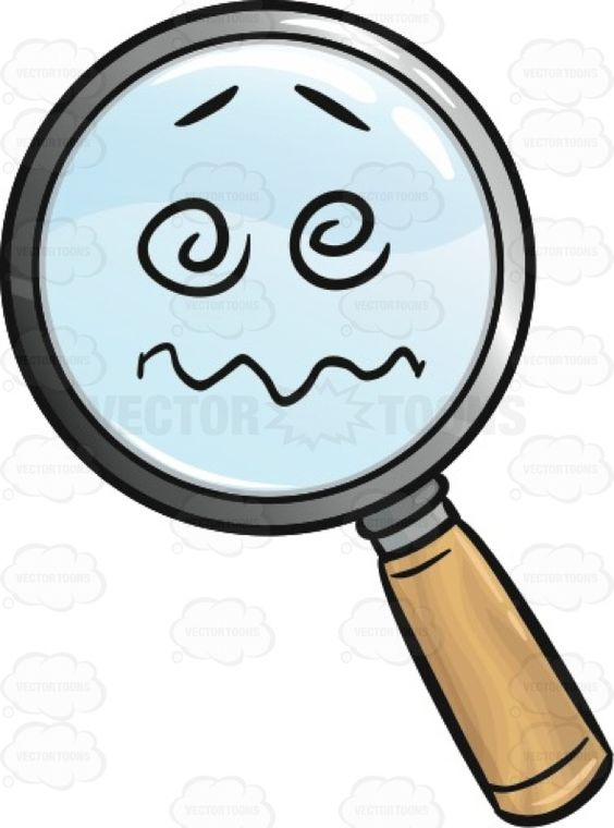Confused And Nuts Magnifying Glass Emoji.