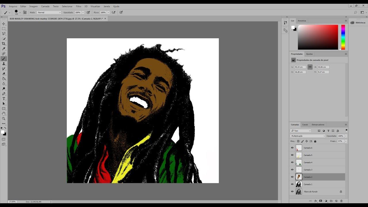 Como transformar foto em desenho Adobe Photoshop Sublimação.