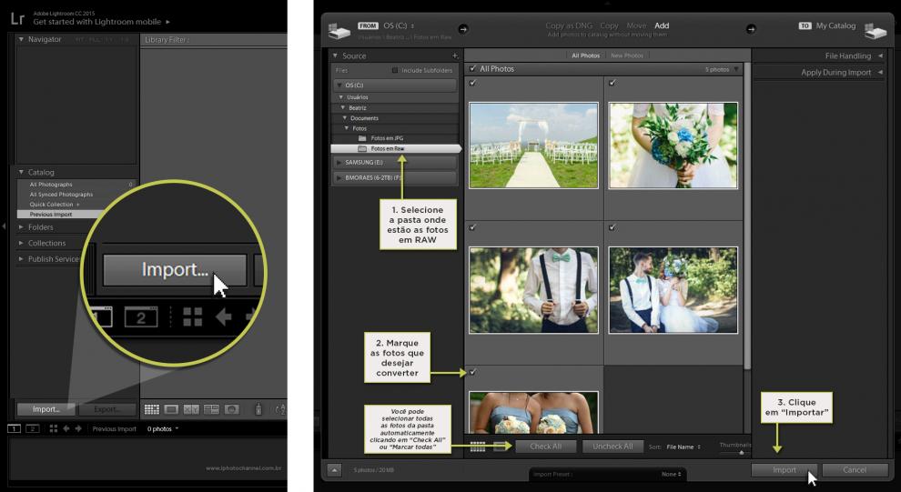 Como transformar fotos RAW em JPEG?.