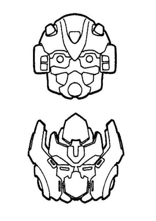 bumble bee face transformer template.