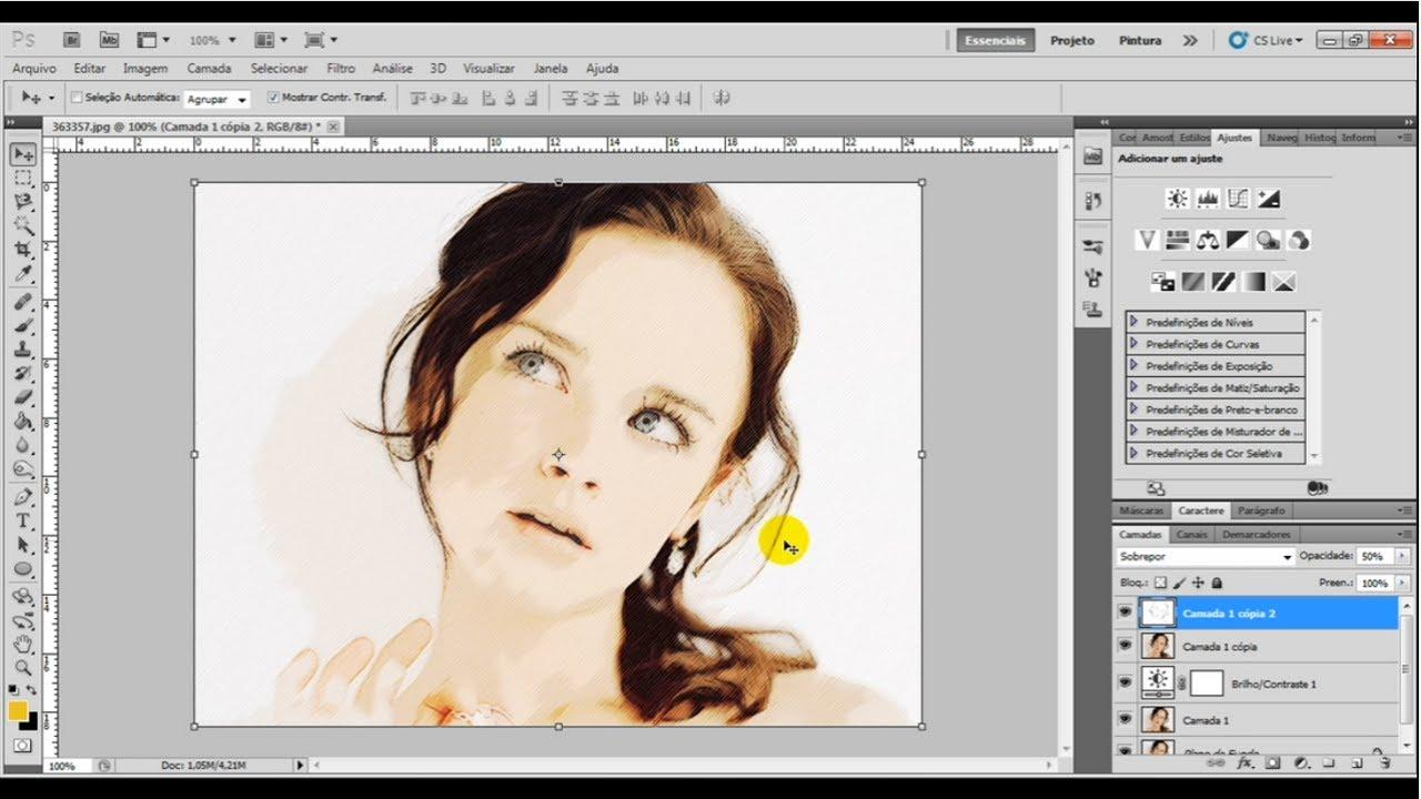 Como transformar foto em desenho no Photoshop.