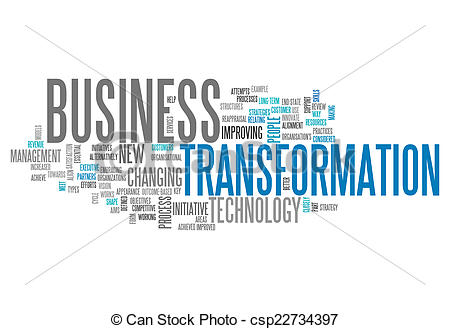 Business transformation clipart.