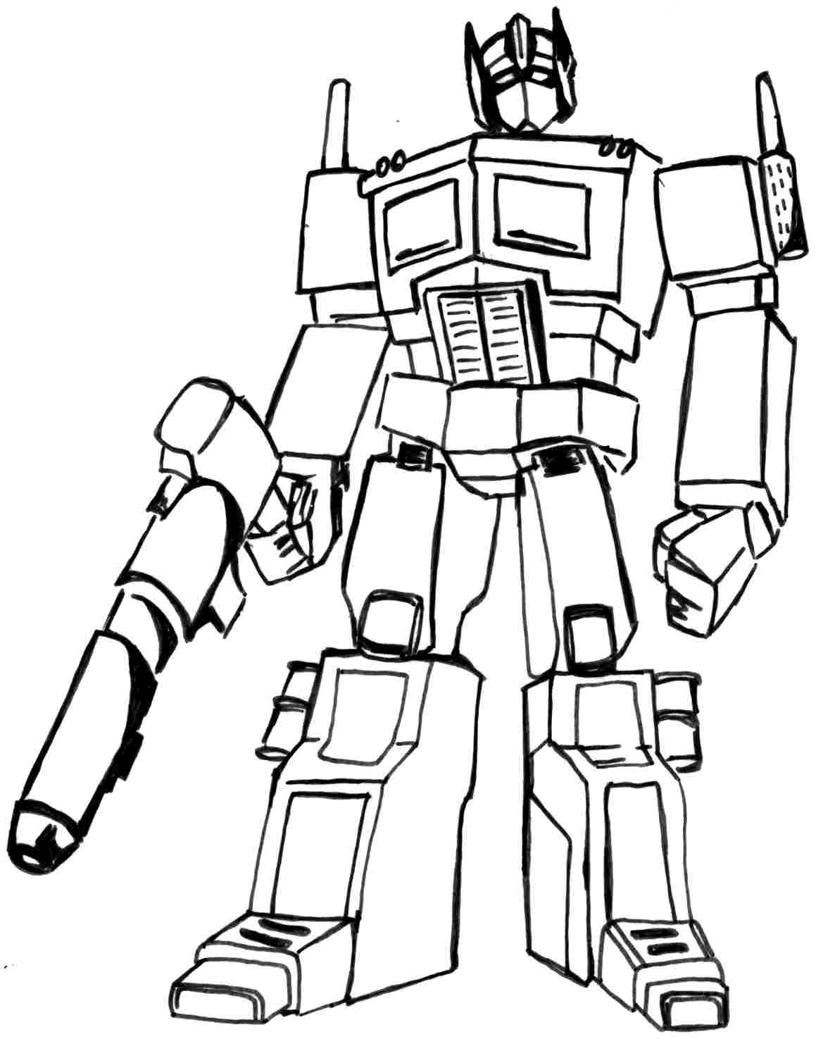 Transformers Childrens Coloring Pages.