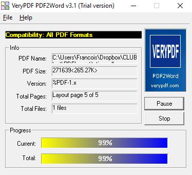 Télécharger PDF to Word pour Windows : téléchargement gratuit !.