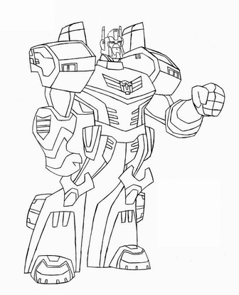 Download transformer cartoon black and white clipart.
