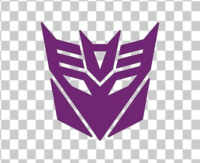 TRANSFORMERS DECEPTICON LOGO 7 Inch Vinyl Decal / Sticker.