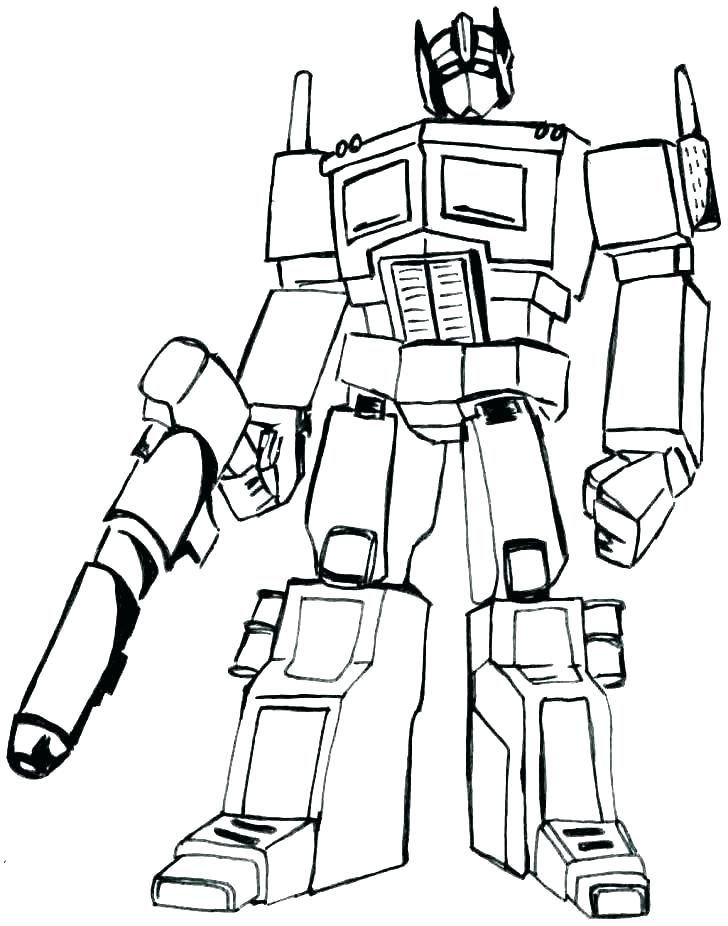 Optimus Prime Coloring Pages.