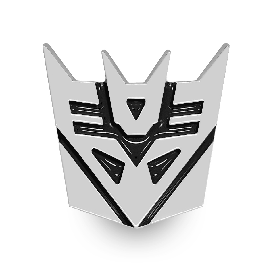 Transformers Decepticons Logo Car Vehicle Chrome Badge.