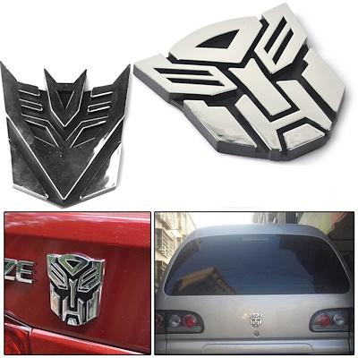 3D Logo Protector Autobot Transformers Emblem Badge Graphics Decal Car  Sticker (Decepticon) (Autobot).