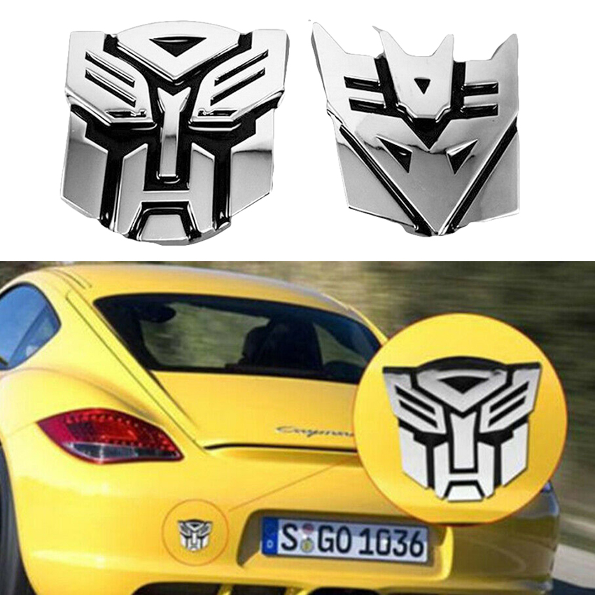 Details about Car\'s 3D Logo Emblem Badge of Autobot Transformers Fashion  Decal Cars Stickers.