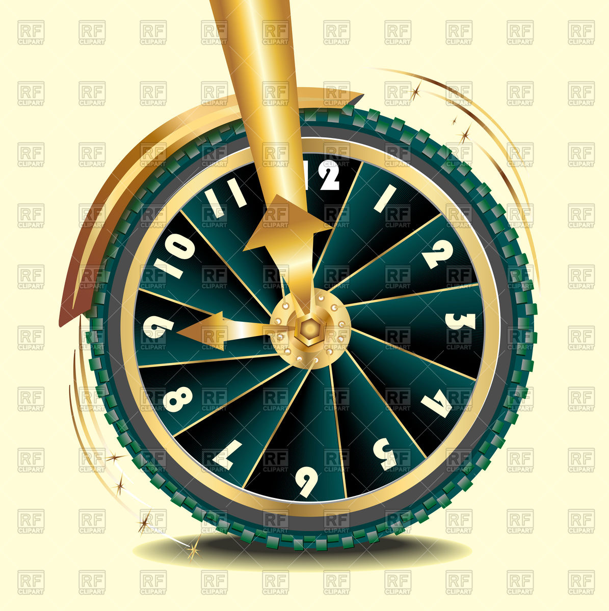 Wheel as symbol of transience of time Vector Image #101896.