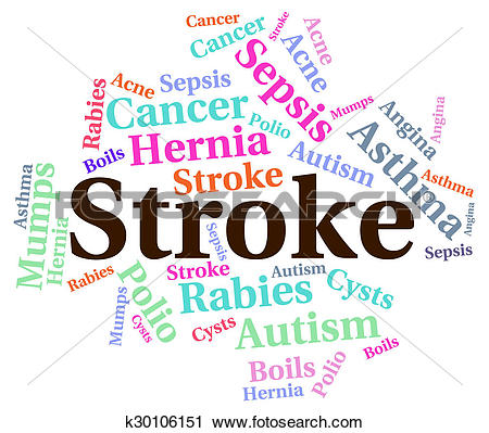 Clipart of Stroke Illness Represents Transient Ischemic Attack And.