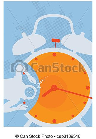 Clip Art Vector of Wake up!.