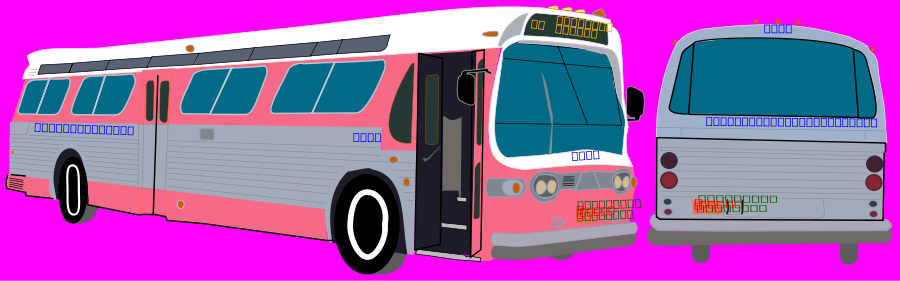 Transit Bus Clipart, vector clip art online, royalty free design.