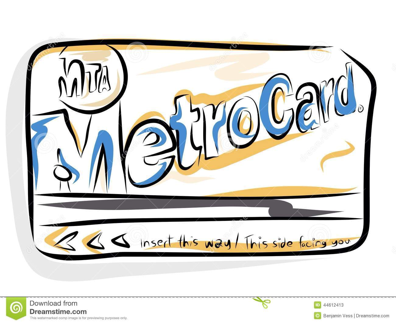 MTA Metrocard Editorial Stock Photo.