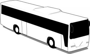 Transit Bus BW Clip Art Download.