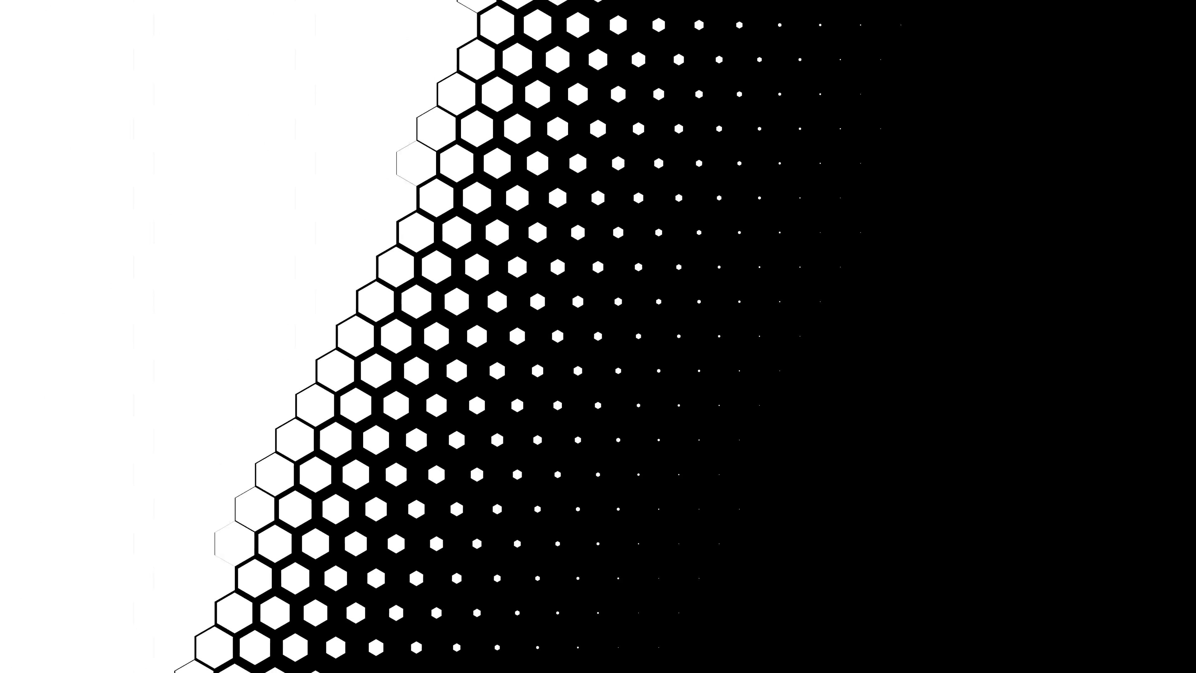 Hexagon Transition Matte, Diagonal, 60fps Motion Background.