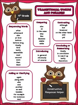 Transitional Words and Phrases.