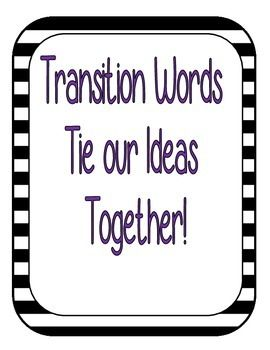 Transition Words Posters.