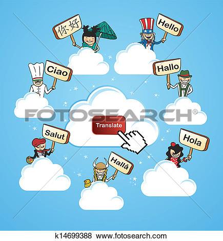 Clip Art of Global languages translate concept k14699407.