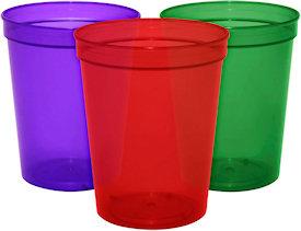 16oz Blank Translucent Stadium Cups.