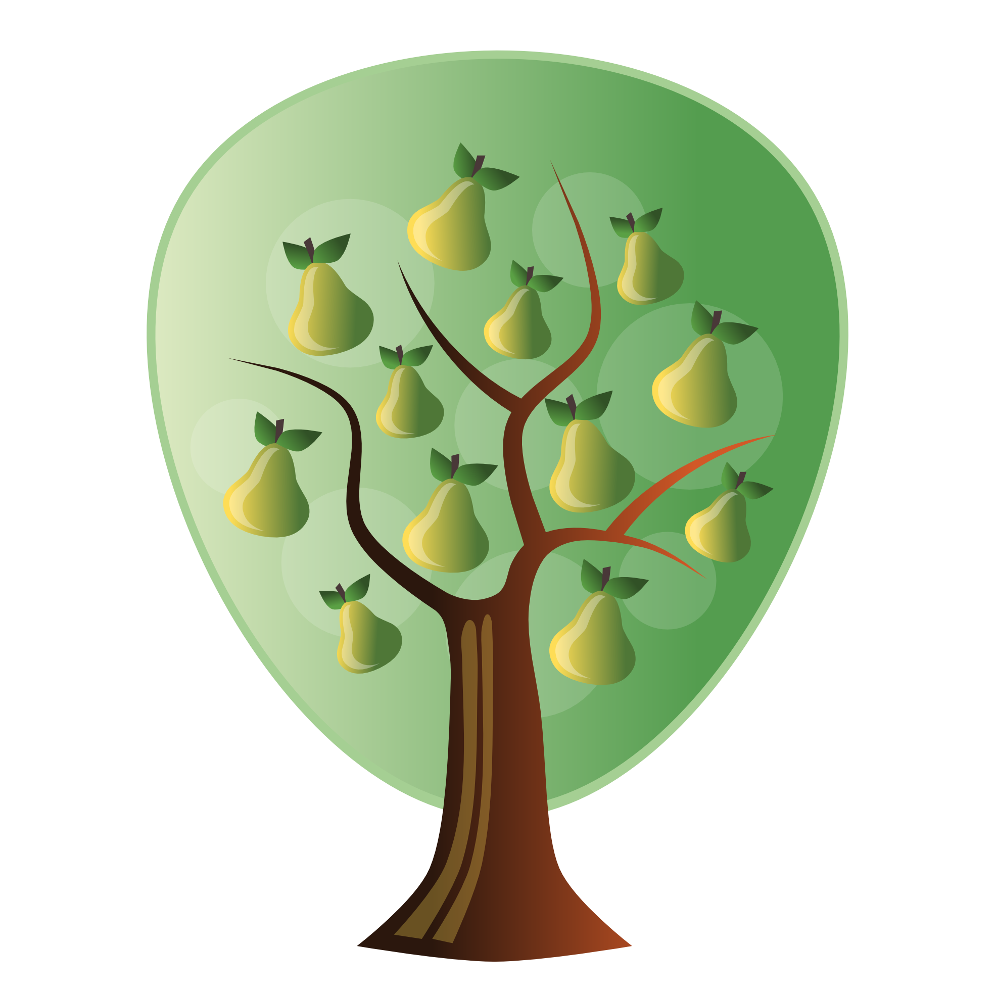 Pear tree clipart translucent.