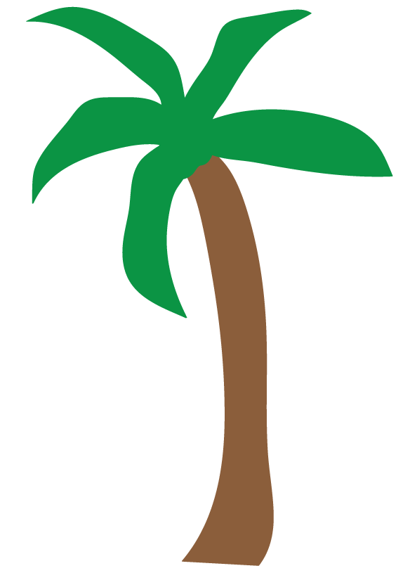 Palm Trees Translucent Clipart.