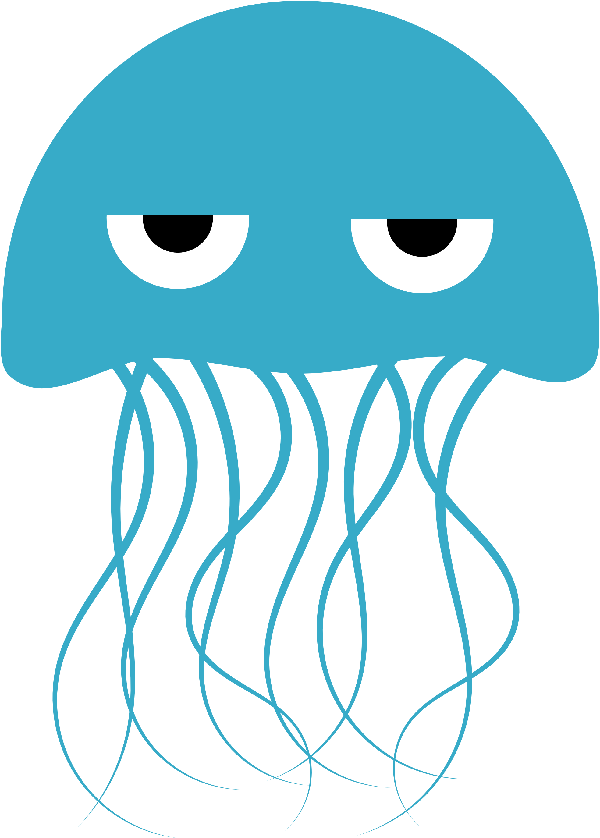 Jellyfish clipart png transparent background.