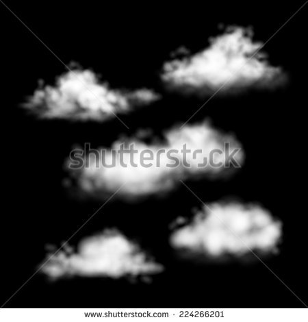 Set Realistic Smoke Steam On Transparent Stock Vector 287851382.