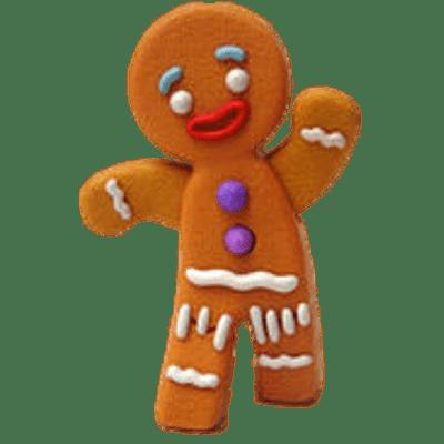 Gingerbread Man transparent PNG.