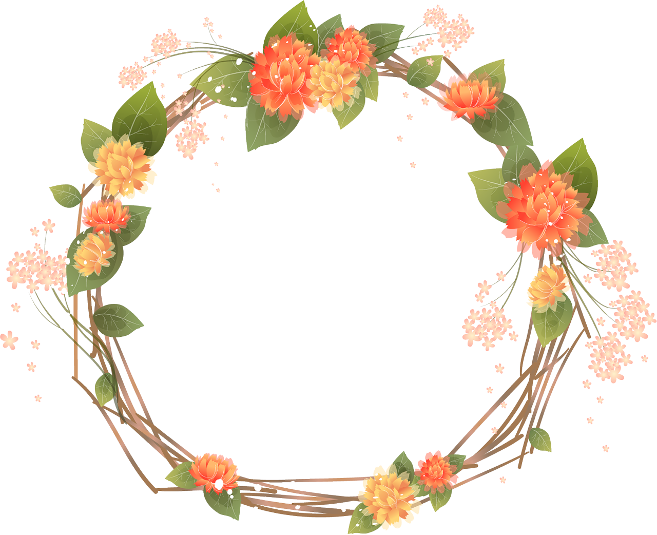 Translucent Peonie Wreath Clipart Clipground