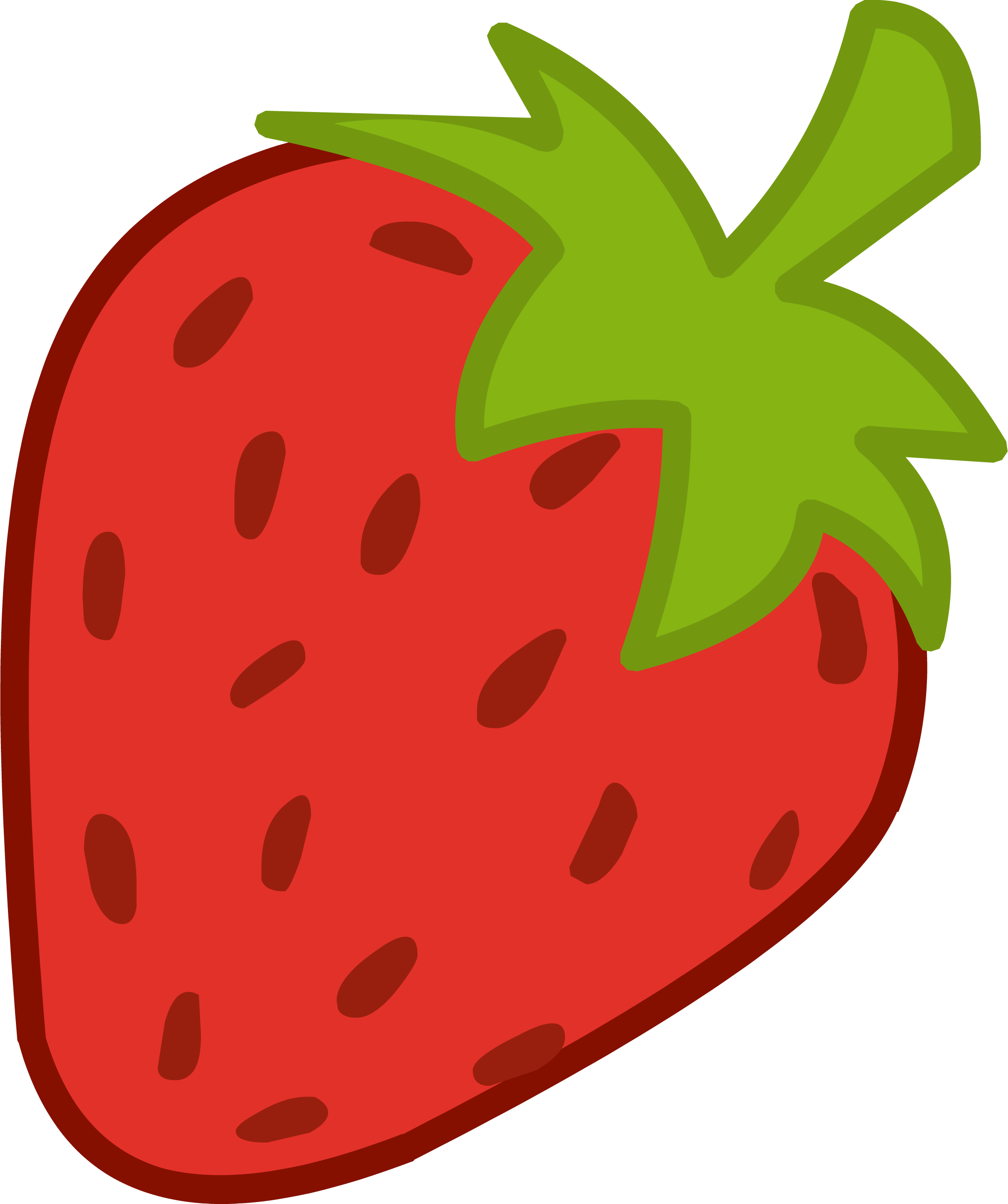 Strawberry clipart 2.