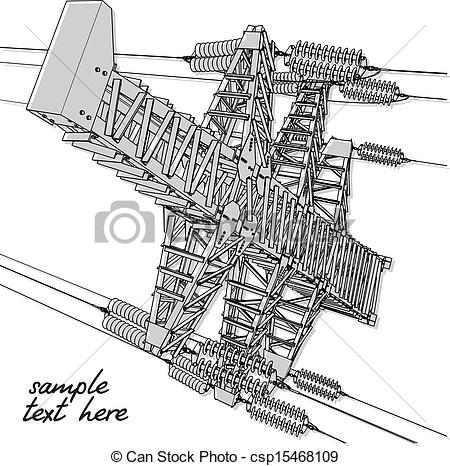 Transmission line Clipart Vector and Illustration. 1,782.