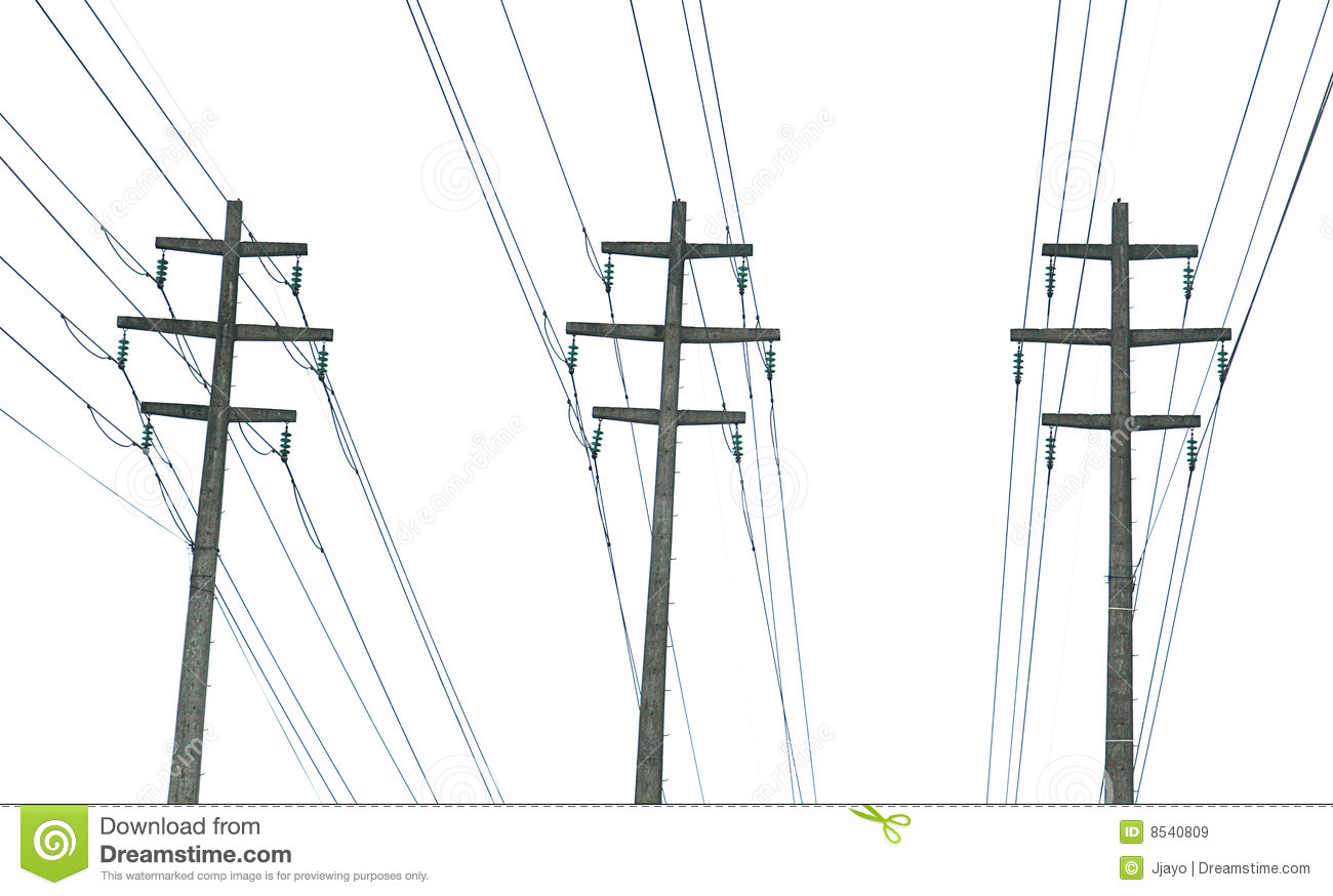 Parallel Power Transmission Lines Royalty Free Stock Images.