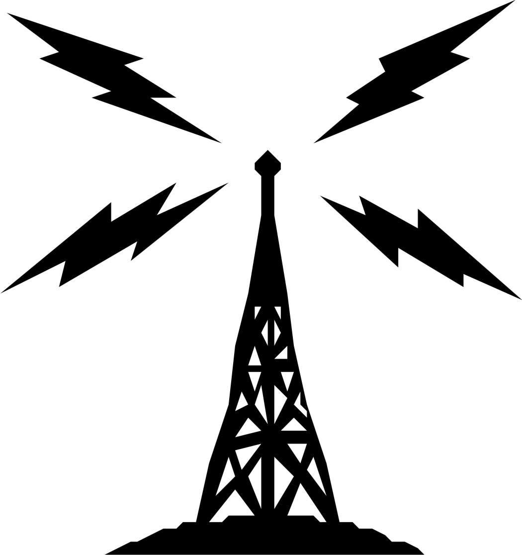Radio mast clipart.
