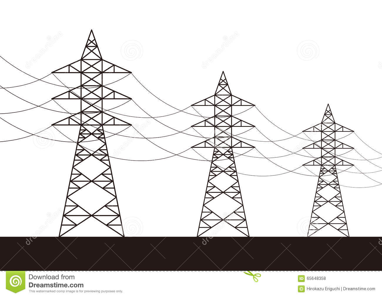 Jpg To Line Art Converter Free Download : Transmission towers clipart clipground