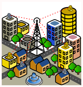 Point To Multipoint Wimax Network Scenario Clip Art at Clker.com.