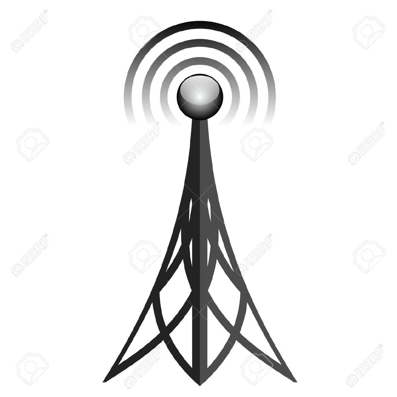 Radio tower clipart.