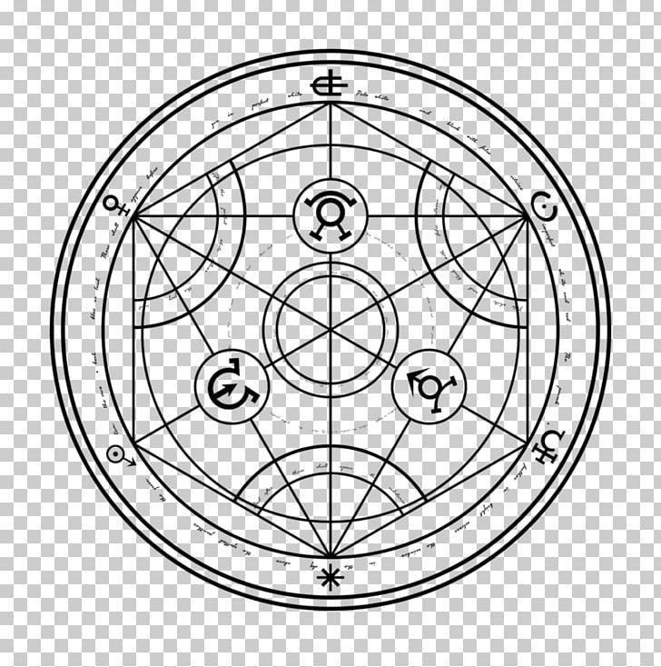 Edward Elric Nuclear Transmutation Magic Circle Alchemy PNG.