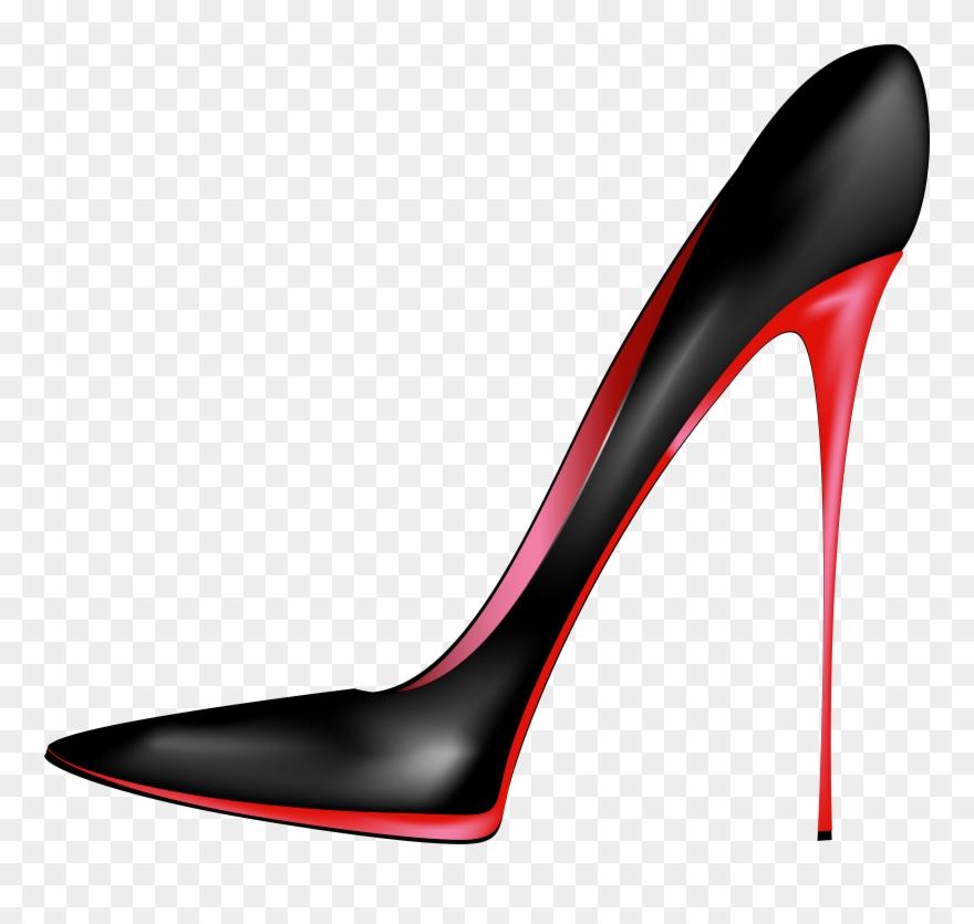 Black Red High Heels Png Clip Art.