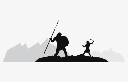Free David And Goliath Clip Art with No Background.