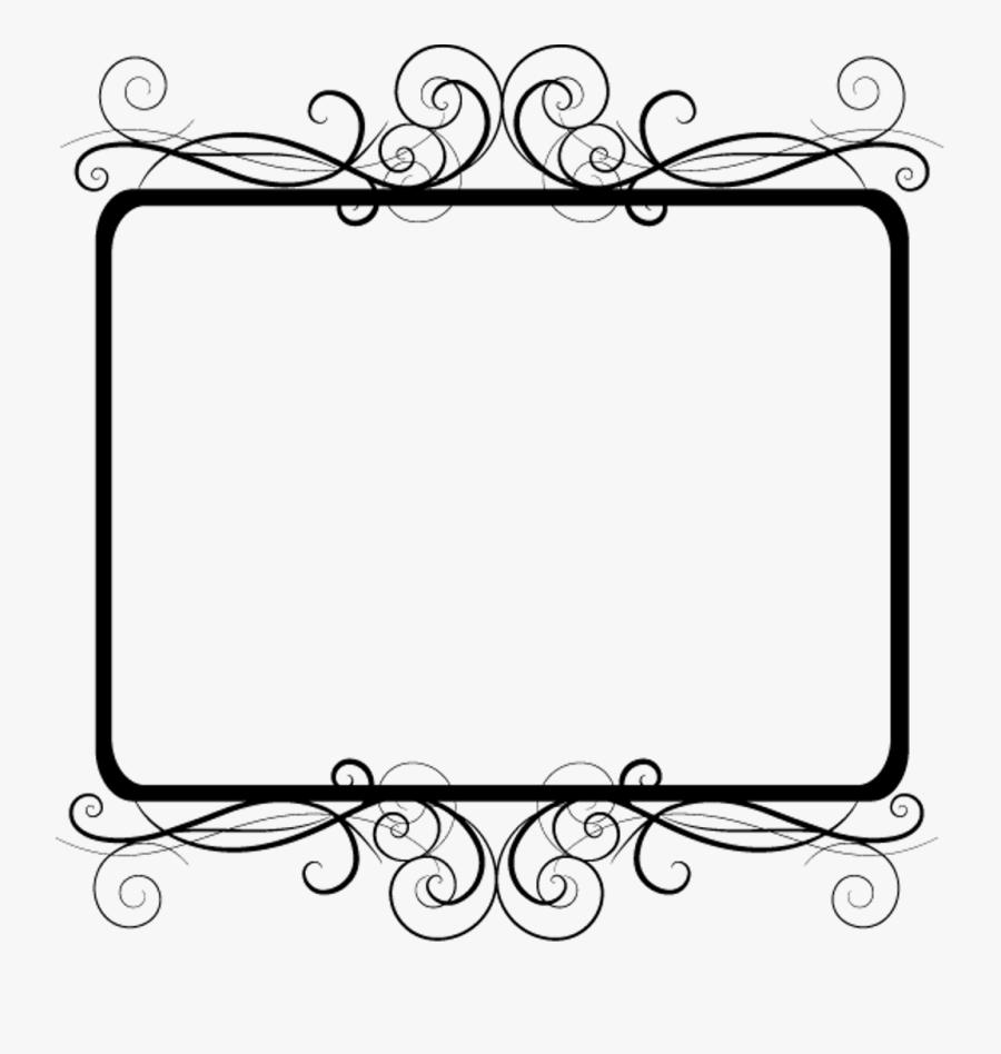 Frame Border Edging Decoration Fancy Curly Black Transp.