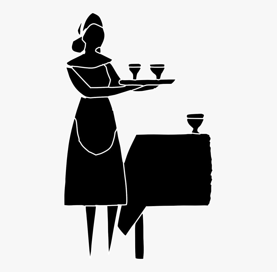 Waitress Transparent Clipart , Transparent Cartoon, Free.