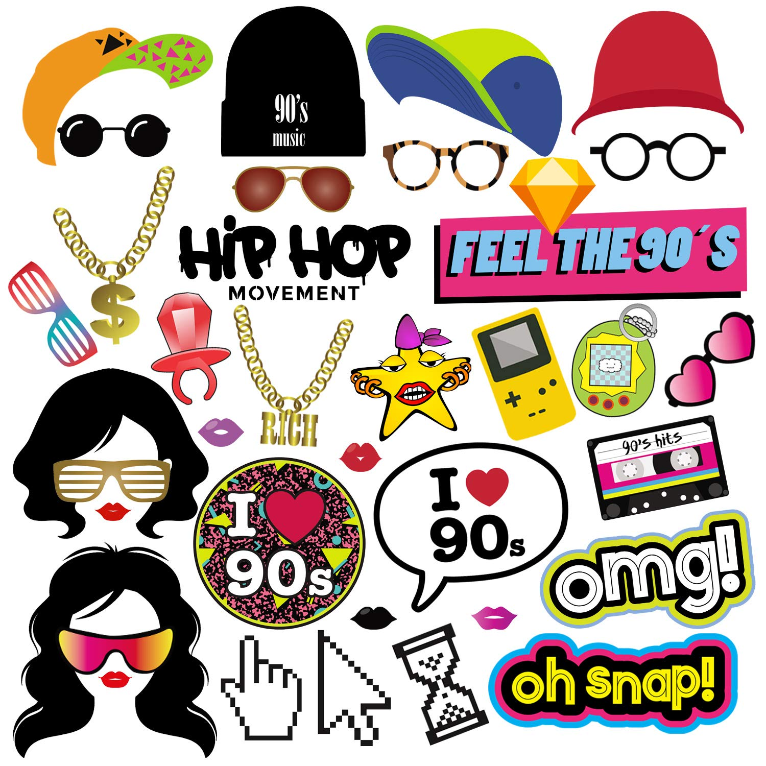 90s clipart theme, 90s theme Transparent FREE for download.