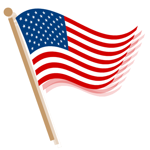 American Flag Transparent Clipart.