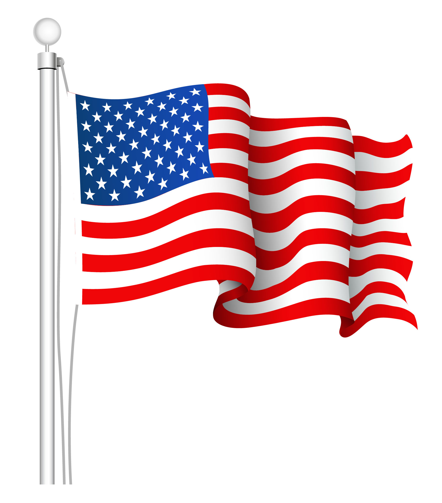 transparent american flag clipart clipground
