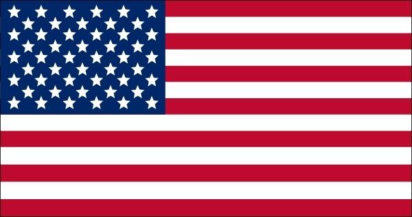 American Flag Clipart Vector.