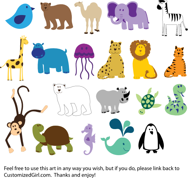 Clipart Animals For Kids.
